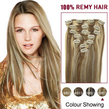 Golden mixed clip in hair extensions buy clip hair extensions 16 inches 12613 7pcs clip in brazilian remy hair extensions pmusecretfo Images