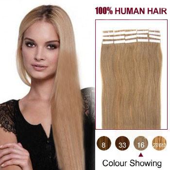 18 golden blonde 16 20pcs tape in human hair extensions tape 18 inches golden blonde 16 20pcs tape in human hair extensions pmusecretfo Images